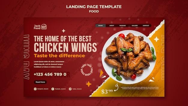 Página inicial de restaurante de fast food