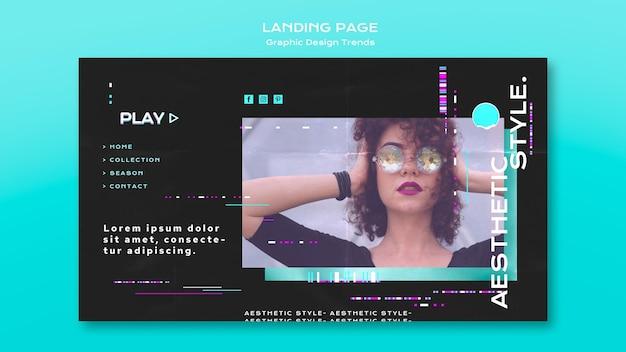 Página inicial de tendências de design gráfico