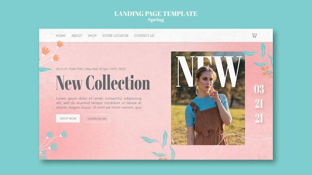 Página inicial de venda de primavera