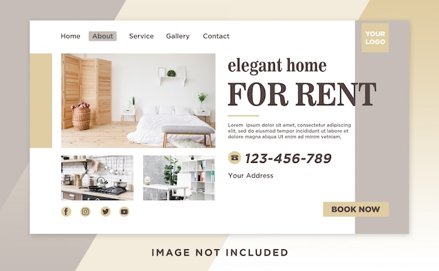 Página inicial do aluguel página principal modelo limpo