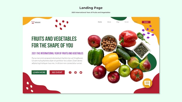 Página inicial do ano internacional de frutas e vegetais