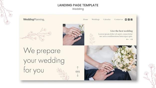 Página inicial do casamento