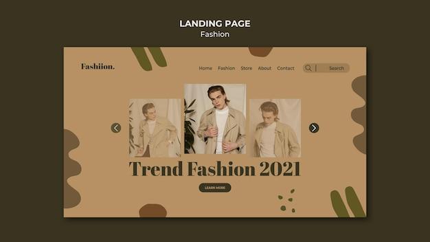 Página inicial do conceito de moda