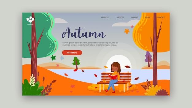Página inicial do conceito de outono