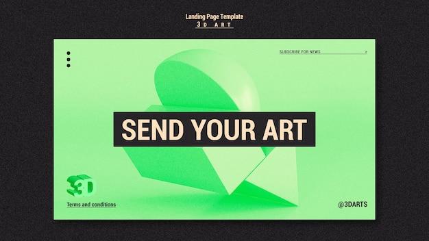 Página inicial do concurso de arte 3d
