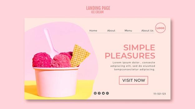 Página inicial do copo de sorvete