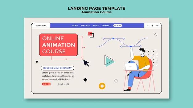 Página inicial do curso de animação online