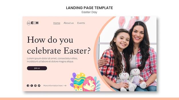 Página inicial do dia de páscoa com foto
