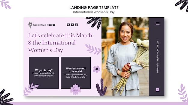 Página inicial do dia internacional da mulher