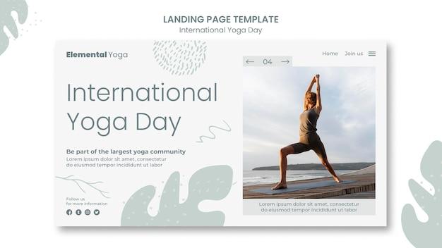 Página inicial do dia internacional de ioga Psd grátis