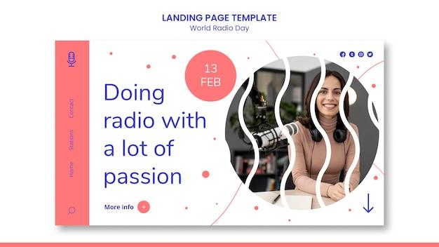 Página inicial do dia mundial da rádio