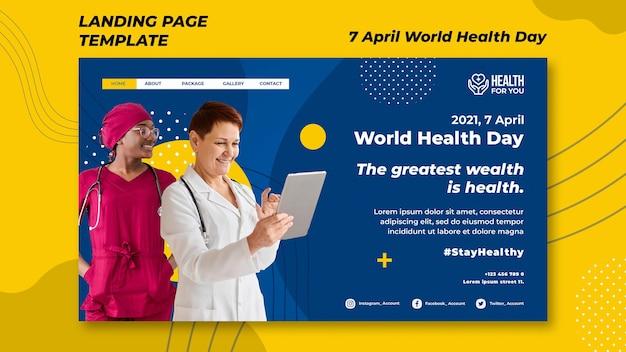 Página inicial do dia mundial da saúde