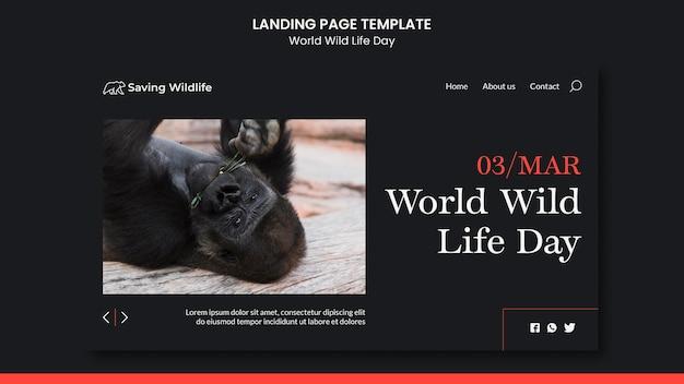 Página inicial do dia mundial da vida selvagem