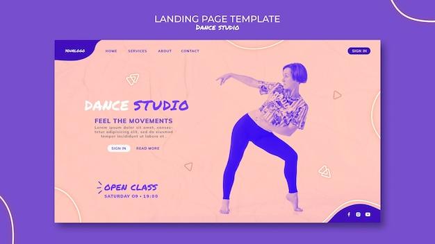 Página inicial do estúdio de dança