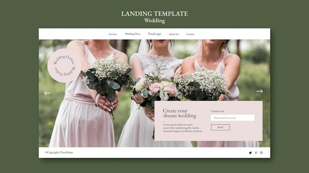 Página inicial do evento de casamento