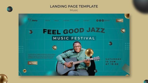 Página inicial do festival de jazz
