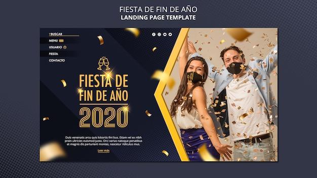 Página inicial do fiesta de fin de ano 2020