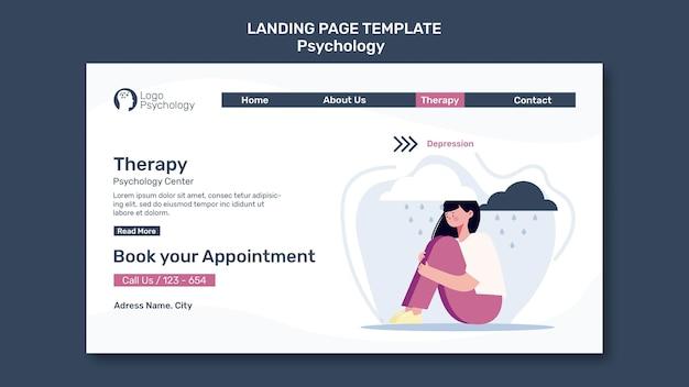 Página inicial do modelo do centro de terapia