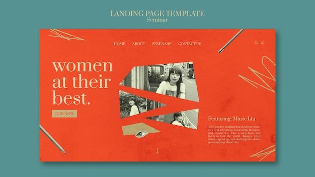Página inicial do seminário de feminismo