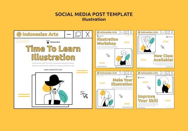 Página inicial do workshop de ilustração