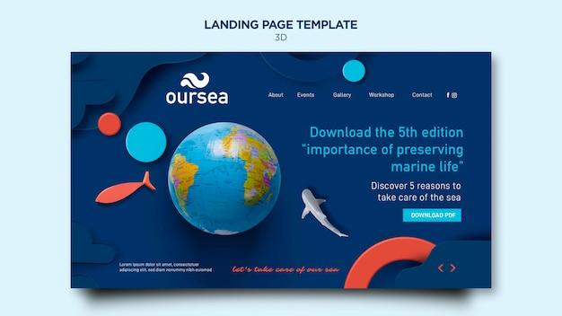 Página inicial do workshop sobre ambiente marinho