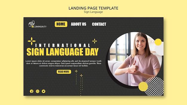 Página inicial para comunicação em linguagem de sinais
