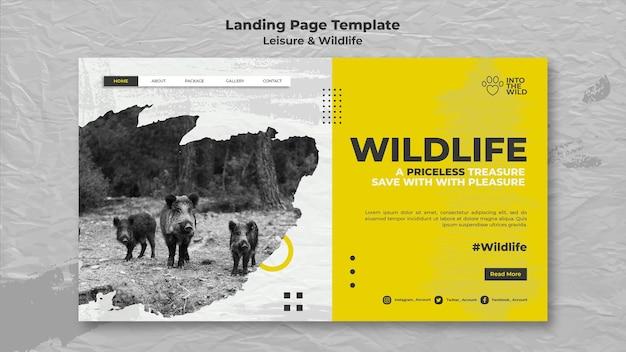 Página inicial para proteção da vida selvagem e do meio ambiente