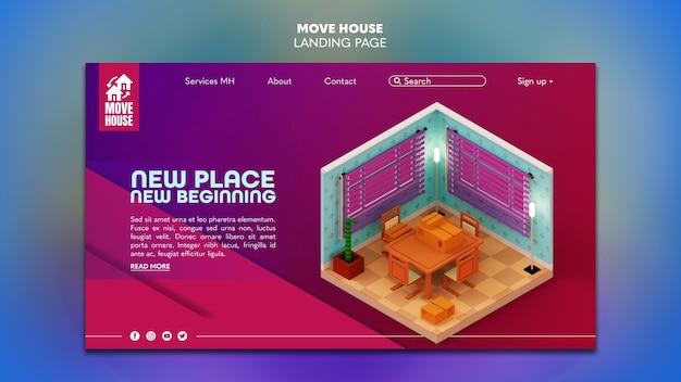 Página inicial para serviços de realocação de residências