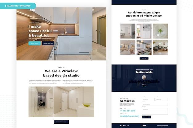 Página interior do site