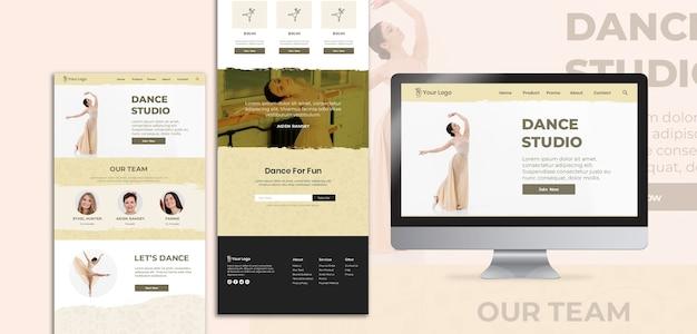 Páginas de destino da web do estúdio de dança
