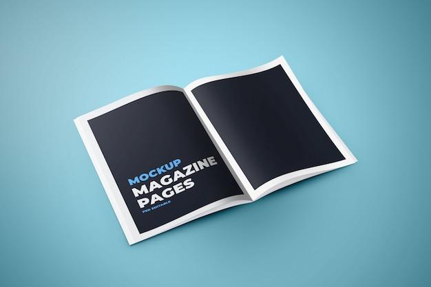 Páginas do livro / maquete de páginas da revista