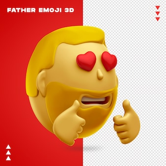 Pai emoji 3d design