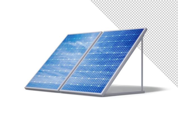 Painéis solares fotovoltaicos isolados do fundo branco