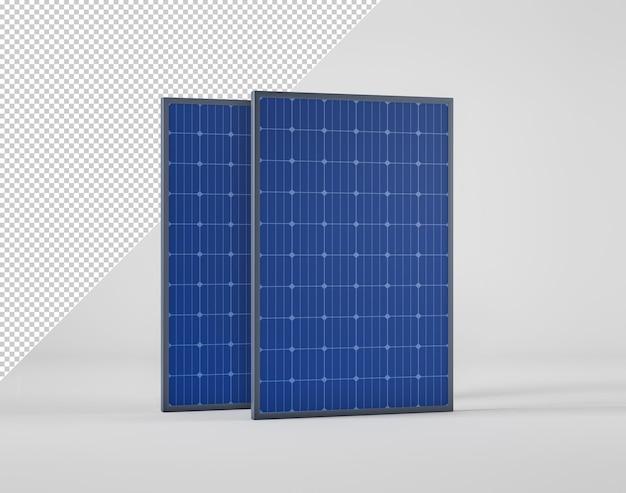 Painel solar isolado do fundo
