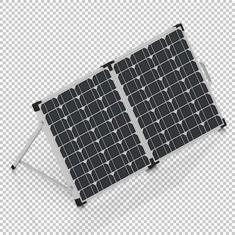 Painel solar isométrico