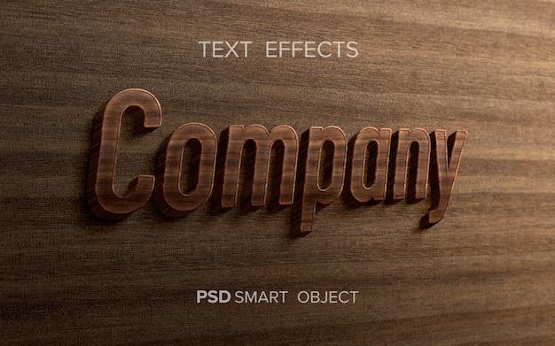 Palavra com efeito de texto de madeira