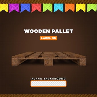 Palete de madeira composição 3d render