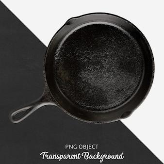 Panela redonda preta em fundo transparente