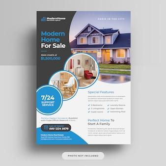 Panfleto de capa de negócios imobiliários a4