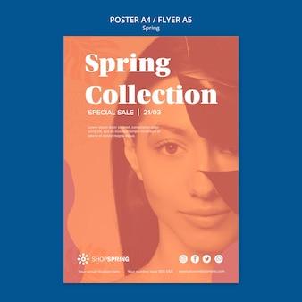 Panfleto de coleção de venda de primavera