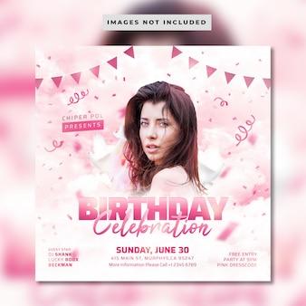Panfleto de comemoração de aniversário