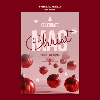 Panfleto de comemoração de feliz natal