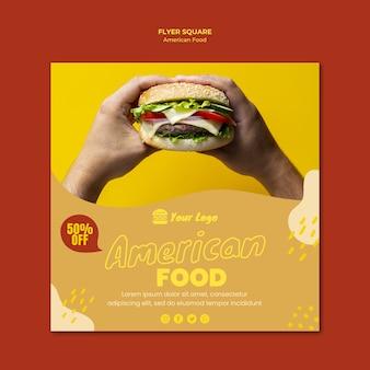 Panfleto de comida americana