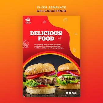 Panfleto de comida deliciosa