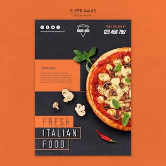 Panfleto de comida italiana