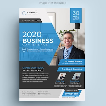 Panfleto de conferência de negócios corporativos