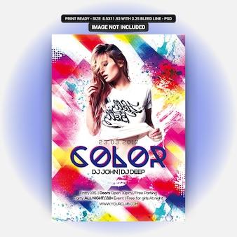 Panfleto de festa a cores