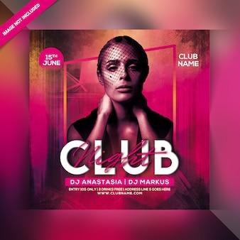 Panfleto de festa à noite clube