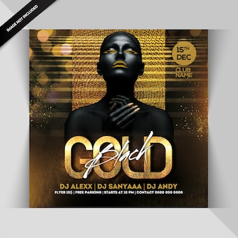 Panfleto de festa à noite de ouro preto