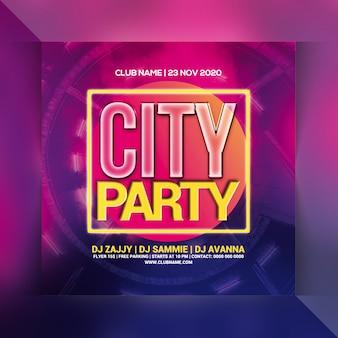 Panfleto de festa da cidade